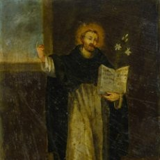 Arte: ÓLEO SOBRE COBRE SANTO SIGLO XVII. Lote 187115217