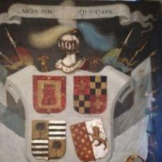 Arte: JOSÉ GIL DE CASTRO Y MORALES (1785 - 1841) . ESCUDO HERÁLDICO AÑO 1834.. Lote 187173235
