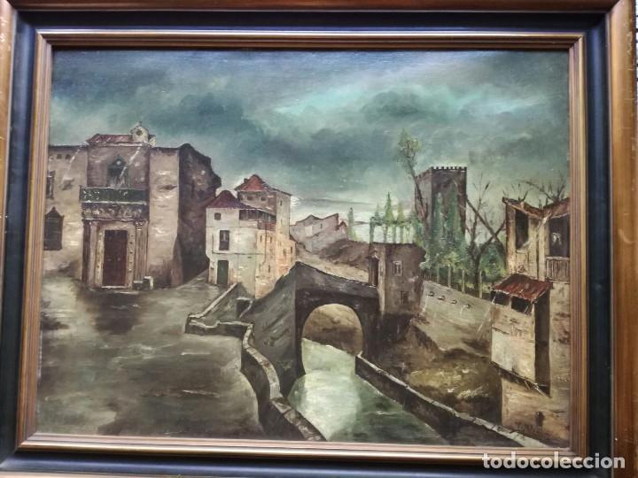 ANTONIO MUÑOZ DEGRAIN POR GABRIEL PALENCIA Y UBANELL (MADRID, 1869 - ?).RECUERDOS DE GRANADA (Arte - Pintura - Pintura al Óleo Contemporánea )