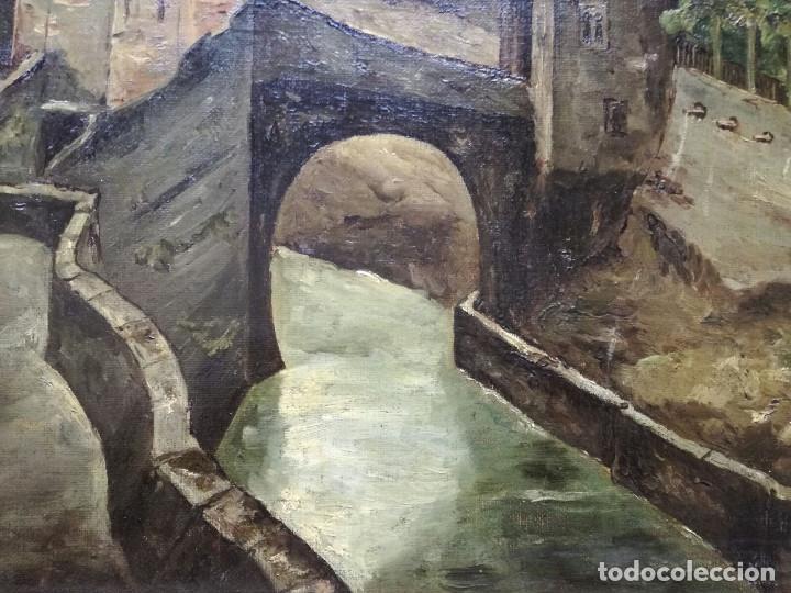 Arte: Antonio Muñoz Degrain por Gabriel Palencia y Ubanell (Madrid, 1869 - ?).Recuerdos de Granada - Foto 5 - 187179930