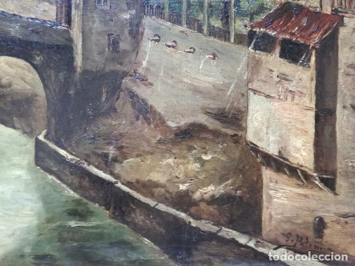 Arte: Antonio Muñoz Degrain por Gabriel Palencia y Ubanell (Madrid, 1869 - ?).Recuerdos de Granada - Foto 6 - 187179930