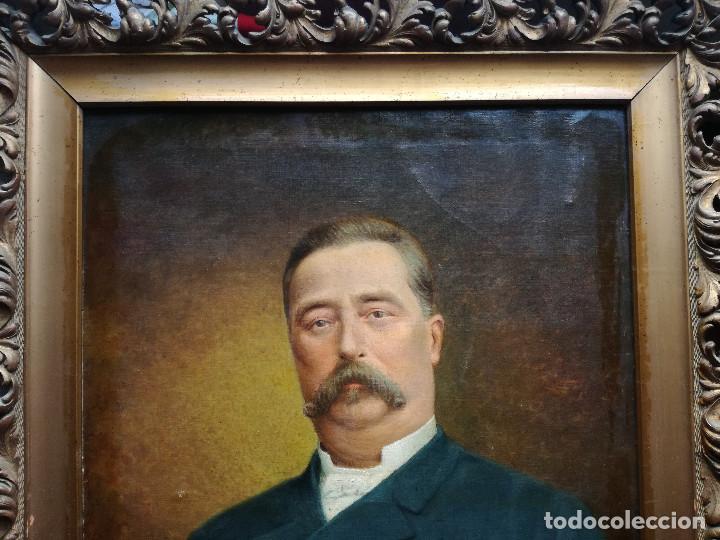RETRATO FRANCÉS SIGLO XIX FIRMADO. (Arte - Pintura - Pintura al Óleo Moderna siglo XIX)