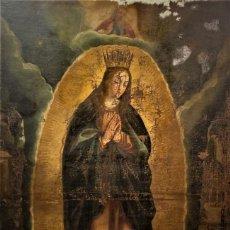 Arte: TOTA PULCHRA, VIRGEN INMACULADA DE ESCUELA VALENCIANA, S. XVI EN PROCESO RESTAURACION. Lote 187203173