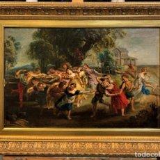 Arte: LA DANZA DE LOS ALDEANOS SEGUN RUBENS. Lote 187206611