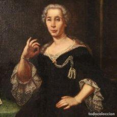 Arte: PINTURA ITALIANA ANTIGUA RETRATO DE MUJER NOBLE DEL SIGLO XVIII. Lote 187320467