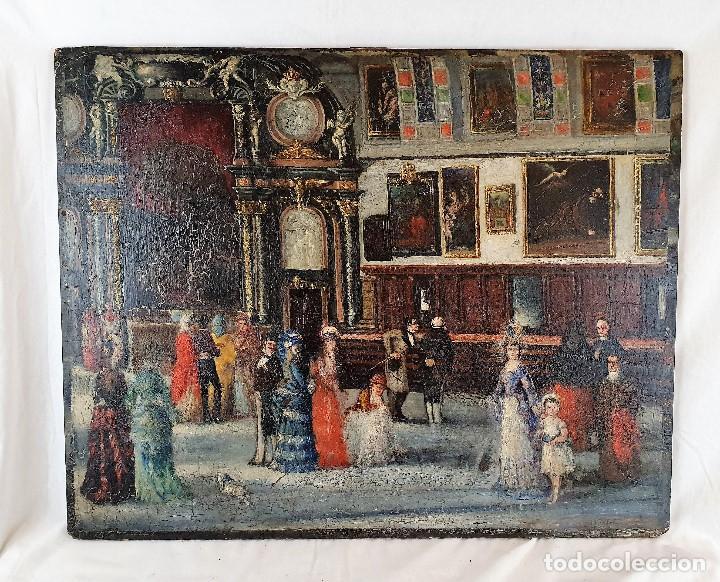 OLEO SOBRE TABLA MUY ANTIGUO (Arte - Pintura - Pintura al Óleo Antigua sin fecha definida)
