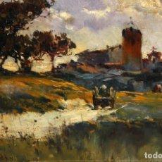 Arte: ESCUELA IMPRESIONISTA ITALIANA DE FINALES DEL SIGLO XIX. OLEO CARTON FIRMADO POR R.GIARDI. Lote 187484910