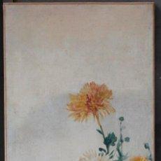 Arte: AURELI TOLOSA (1861 - 1938), FLORES, PINTURA AL ÓLEO SOBRE TELA. 125X46CM. Lote 187571006