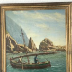 Arte: PESCADORES COSTA BRAVA OLEO SOBRE LIENZO J.BERNADELL 1942. . Lote 187577837