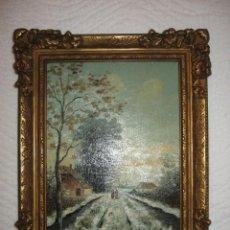 Arte: ANTIGUO OLEO SOBRE TABLILLA CON MARCO, SIN FIRMA. Lote 187607006
