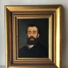 Arte: ANTIGUA PINTURA AL OLEO SIGLO XIX , RETRATO CABALLERO , FIRMADO 1870. Lote 187630258