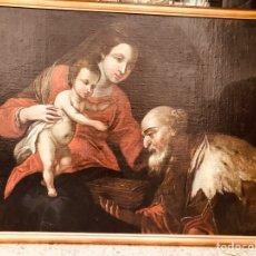 Arte: ADORACIÓN A LA VIRGEN MARIA.. Lote 187811336