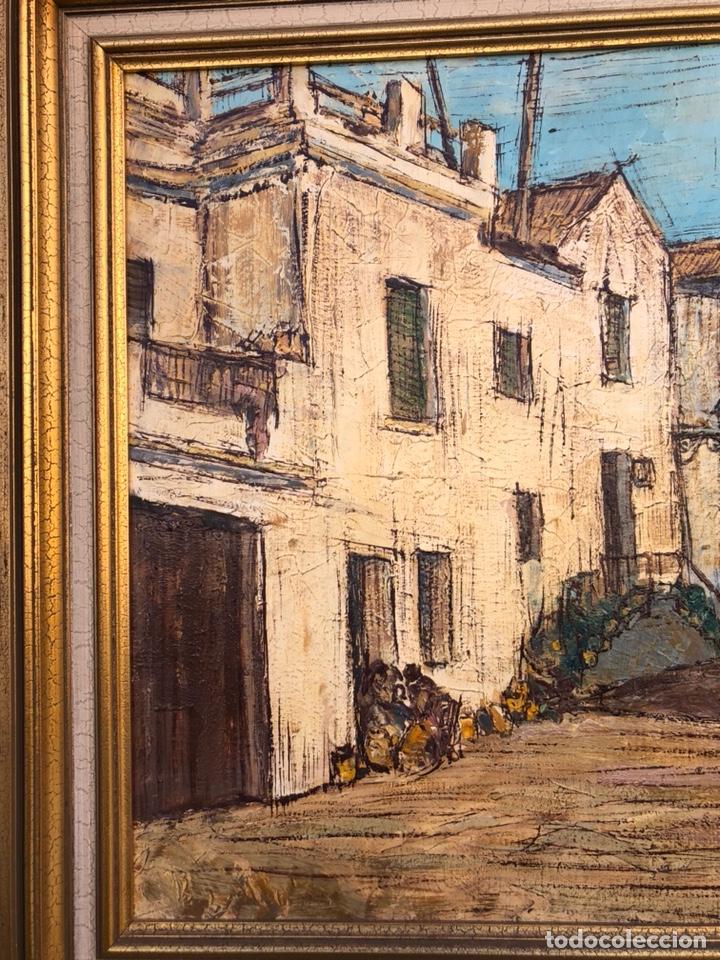Arte: Precioso óleo sobre tabla a identificar, gran tamaño - Foto 2 - 188411532