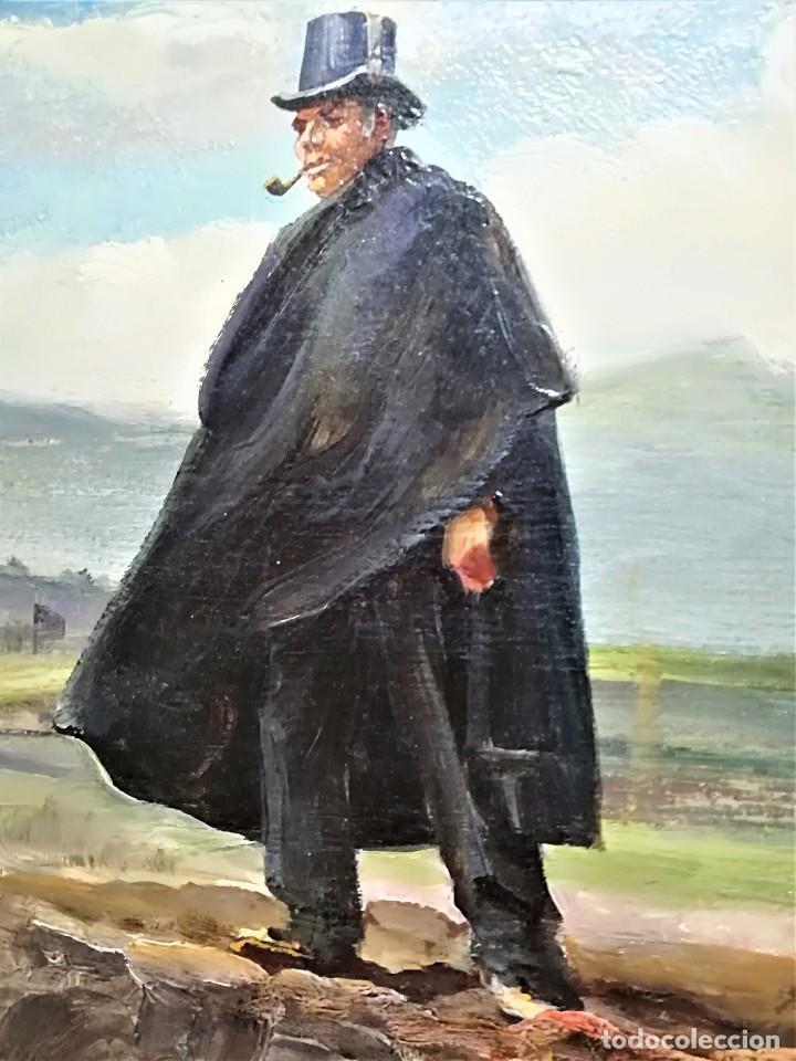 Arte: PINTURA ORIGINAL,PATRULLA MOSSOS DESQUADRA,AÑO1929,ANTIGUO UNIFORME,SOMBRERO,FUSIL.POLICIA CATALUÑA - Foto 3 - 188422132