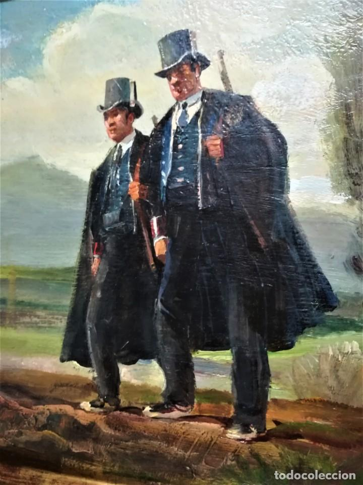 Arte: PINTURA ORIGINAL,PATRULLA MOSSOS DESQUADRA,AÑO1929,ANTIGUO UNIFORME,SOMBRERO,FUSIL.POLICIA CATALUÑA - Foto 5 - 188422132