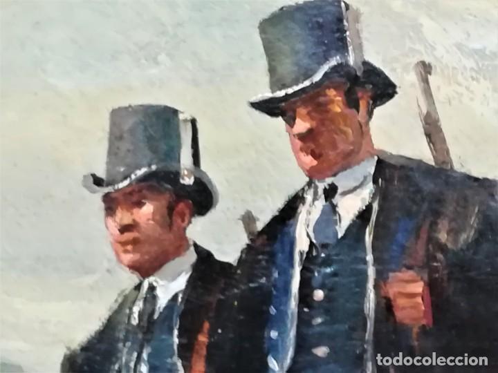 Arte: PINTURA ORIGINAL,PATRULLA MOSSOS DESQUADRA,AÑO1929,ANTIGUO UNIFORME,SOMBRERO,FUSIL.POLICIA CATALUÑA - Foto 6 - 188422132
