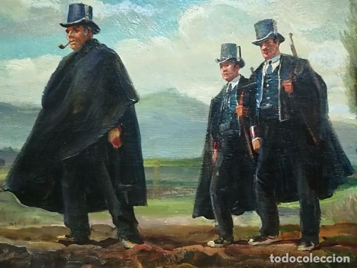 Arte: PINTURA ORIGINAL,PATRULLA MOSSOS DESQUADRA,AÑO1929,ANTIGUO UNIFORME,SOMBRERO,FUSIL.POLICIA CATALUÑA - Foto 8 - 188422132