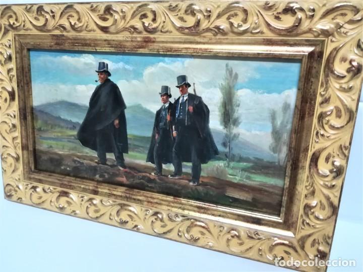 Arte: PINTURA ORIGINAL,PATRULLA MOSSOS DESQUADRA,AÑO1929,ANTIGUO UNIFORME,SOMBRERO,FUSIL.POLICIA CATALUÑA - Foto 9 - 188422132