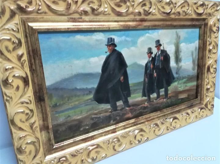 Arte: PINTURA ORIGINAL,PATRULLA MOSSOS DESQUADRA,AÑO1929,ANTIGUO UNIFORME,SOMBRERO,FUSIL.POLICIA CATALUÑA - Foto 10 - 188422132