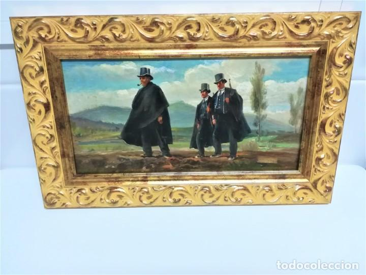 Arte: PINTURA ORIGINAL,PATRULLA MOSSOS DESQUADRA,AÑO1929,ANTIGUO UNIFORME,SOMBRERO,FUSIL.POLICIA CATALUÑA - Foto 13 - 188422132