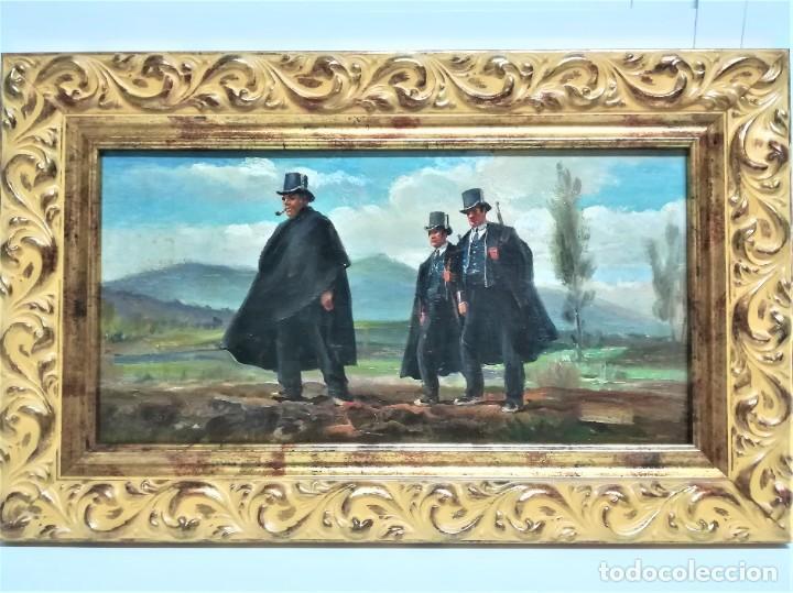 Arte: PINTURA ORIGINAL,PATRULLA MOSSOS DESQUADRA,AÑO1929,ANTIGUO UNIFORME,SOMBRERO,FUSIL.POLICIA CATALUÑA - Foto 14 - 188422132