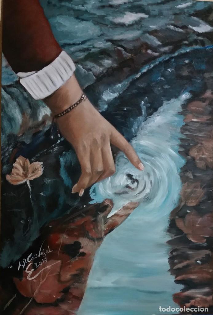 TOCANDO EL AGUA (Arte - Pintura - Pintura al Óleo Contemporánea )