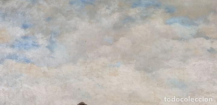 Arte: PAISAJE COSTERO. ÓLEO SOBRE LIENZO. FIRMADO R. MASÓ. PRINCIPIOS SIGLO XX. - Foto 3 - 188452792