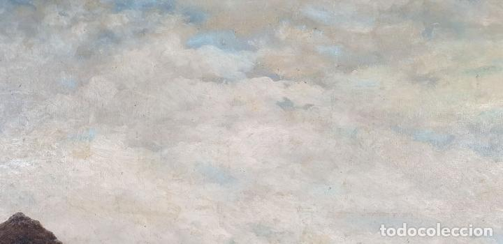 Arte: PAISAJE COSTERO. ÓLEO SOBRE LIENZO. FIRMADO R. MASÓ. PRINCIPIOS SIGLO XX. - Foto 4 - 188452792