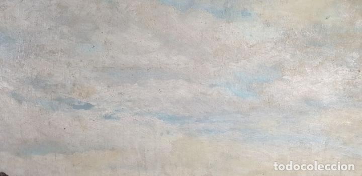 Arte: PAISAJE COSTERO. ÓLEO SOBRE LIENZO. FIRMADO R. MASÓ. PRINCIPIOS SIGLO XX. - Foto 9 - 188452792