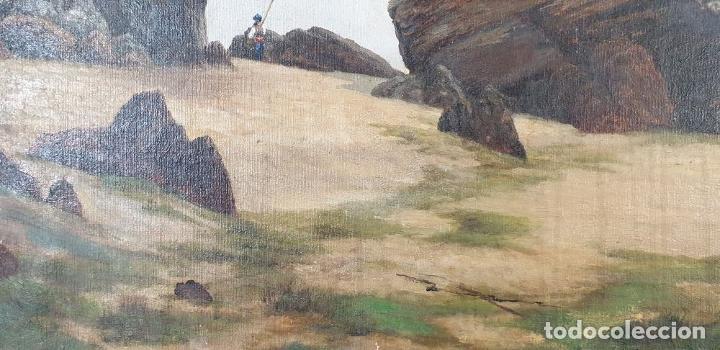 Arte: PAISAJE COSTERO. ÓLEO SOBRE LIENZO. FIRMADO R. MASÓ. PRINCIPIOS SIGLO XX. - Foto 14 - 188452792