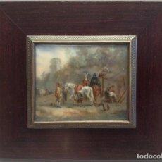 Arte: PINTURA AL ÓLEO SOBRE MARFIL (S.XIX). Lote 188480141
