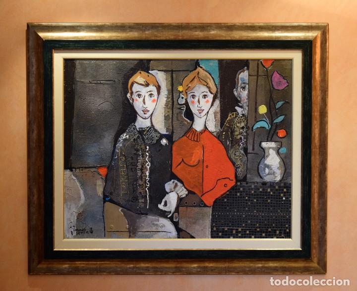 MIGUEL TORNER DE SEMIR TÉCNICA MIXTA ENMARCADO GRAN FORMATO (Arte - Pintura - Pintura al Óleo Contemporánea )