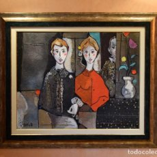 Arte: MIGUEL TORNER DE SEMIR TÉCNICA MIXTA ENMARCADO GRAN FORMATO. Lote 188491855
