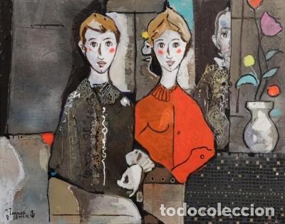 Arte: MIGUEL TORNER DE SEMIR TÉCNICA MIXTA ENMARCADO GRAN FORMATO - Foto 2 - 188491855