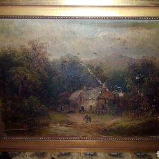 Arte: CUADRO OLEO SOBRE LIENZO,FIMADO POR DETRAS.. Lote 188499747
