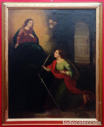 ÓLEO S/LIENZO -SANTA SUSANA-. ESCUELA BARROCA SEVILLANA, FINALES S. XVII. DIM.- 115X95 CMS (Arte - Pintura - Pintura al Óleo Antigua siglo XVII)