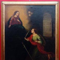 Arte: ÓLEO S/LIENZO -SANTA SUSANA-. ESCUELA BARROCA SEVILLANA, FINALES S. XVII. DIM.- 115X95 CMS. Lote 186106841