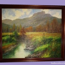 Arte: PAISAJE AL OLEO DE X. MOLES BALLESTEROS. Lote 188639867