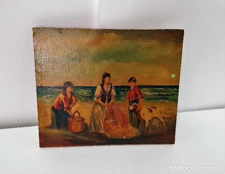 OLEO SOBRE LIENZO FIRMADO MUY ANTIGUO (Arte - Pintura - Pintura al Óleo Antigua sin fecha definida)