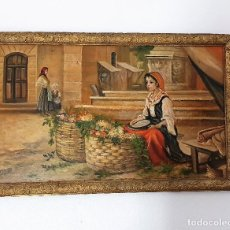Arte: ANTIGUO OLEO SOBRE TABLA FIRMADO. Lote 188681657
