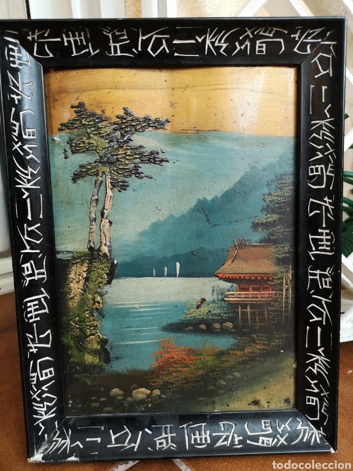 ÓLEO SOBRE TABLA, CHINA 1850 (Arte - Pintura - Pintura al Óleo Antigua sin fecha definida)