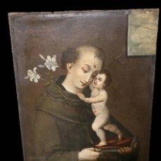 Arte: ANTIGUO ÓLEO SOBRE LIENZO DE SAN ANTONIO DE PADUA. SIGLO XVII. CÍRCULO ANDREA DEL SARTO. 95X70. Lote 165742010