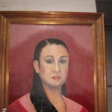Arte: PINTURA ANTIGUA OLEO ISABEL PANTOJA EN LIENZO FIRMA J. ESPLA ARTISTA HOGUERAS ALICANTE 1988. Lote 136271990