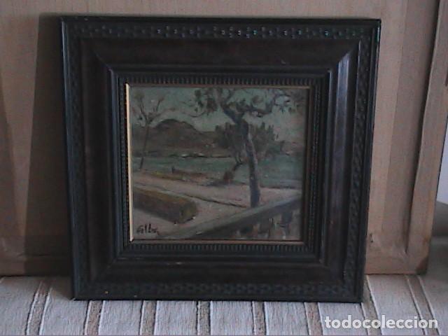 Arte: EXCELENTE ÓLEO SOBRE TABLA. RINCÓN DE IBIZA.PRINCIPIOS S.XX. FIRMADO ALBA. - Foto 3 - 189074012