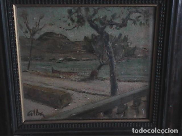 Arte: EXCELENTE ÓLEO SOBRE TABLA. RINCÓN DE IBIZA.PRINCIPIOS S.XX. FIRMADO ALBA. - Foto 4 - 189074012