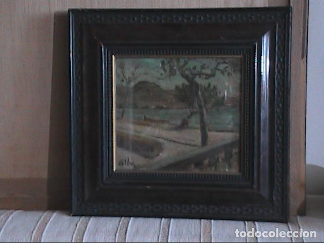 Arte: EXCELENTE ÓLEO SOBRE TABLA. RINCÓN DE IBIZA.PRINCIPIOS S.XX. FIRMADO ALBA. - Foto 8 - 189074012