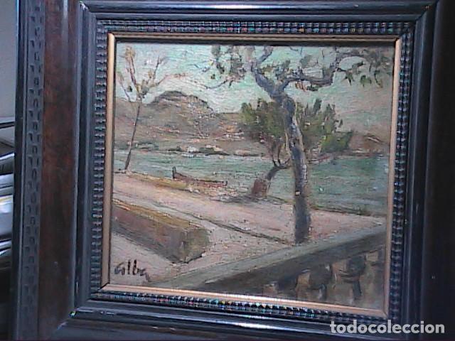 Arte: EXCELENTE ÓLEO SOBRE TABLA. RINCÓN DE IBIZA.PRINCIPIOS S.XX. FIRMADO ALBA. - Foto 2 - 189074012