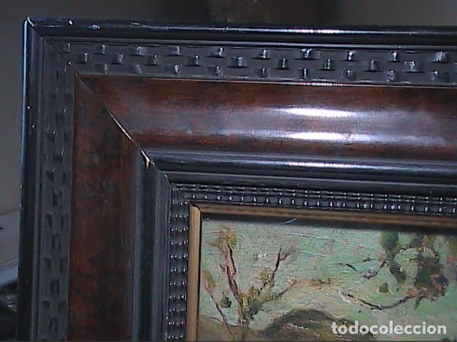 Arte: EXCELENTE ÓLEO SOBRE TABLA. RINCÓN DE IBIZA.PRINCIPIOS S.XX. FIRMADO ALBA. - Foto 6 - 189074012