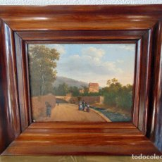 Arte: OLEO COSTUMBRISTA, SIGLO XIX, ANONIMO , SOBRE CHAPA, 23 X 18 , SIN CONTAR MARCO. Lote 189083690