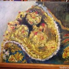 Arte: ÓLEO ARTE TRAJE DE LUCES TORERO MORANTE ORIGINAL ESCUELA DE ARTES ALICANTE 60X50. Lote 189094400